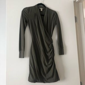 Banana Republic olive green dress